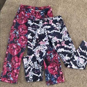 2 pair fun patterned leggings